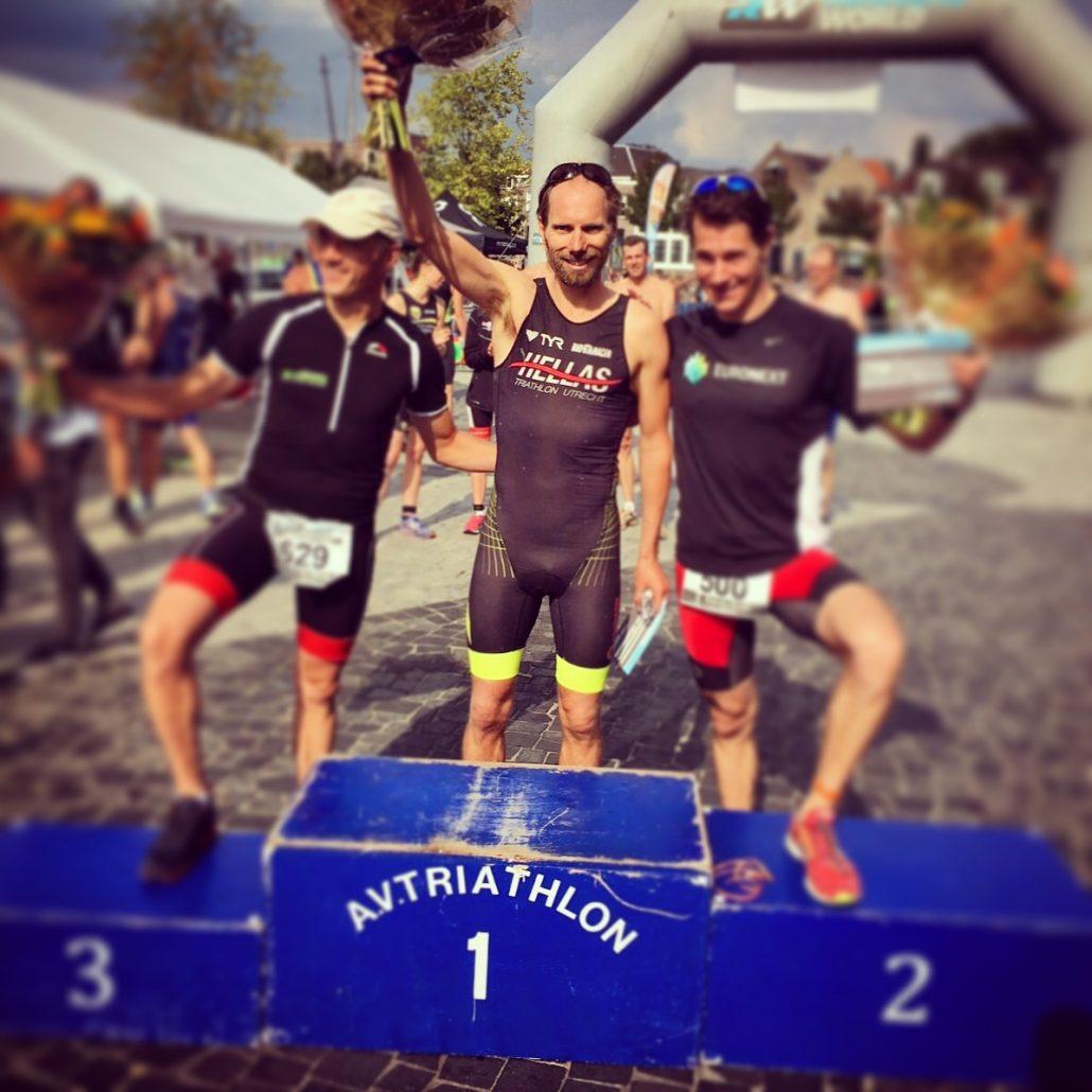 algemeen - Marco Glasstra 2e plaats Keistad Triathlon 1030x1030 - Maar liefst 2 podium plaatsten bij de Keistad Triathlon 2017 - update, Nederland