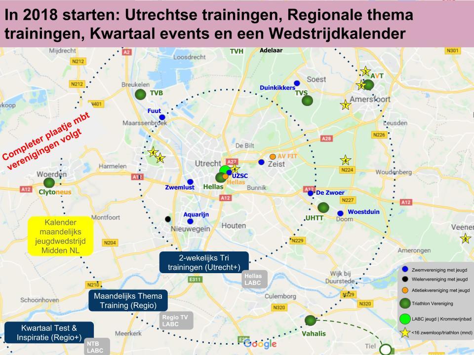 vereniging - Triathlon trainingen Jeugd Midden NL LABC overzicht - UHTT draagt bij aan triathlon trainingen voor jeugd in midden Nederland - triathlon, trainen, Planning, Nederland, Marco, jeugd, Agenda