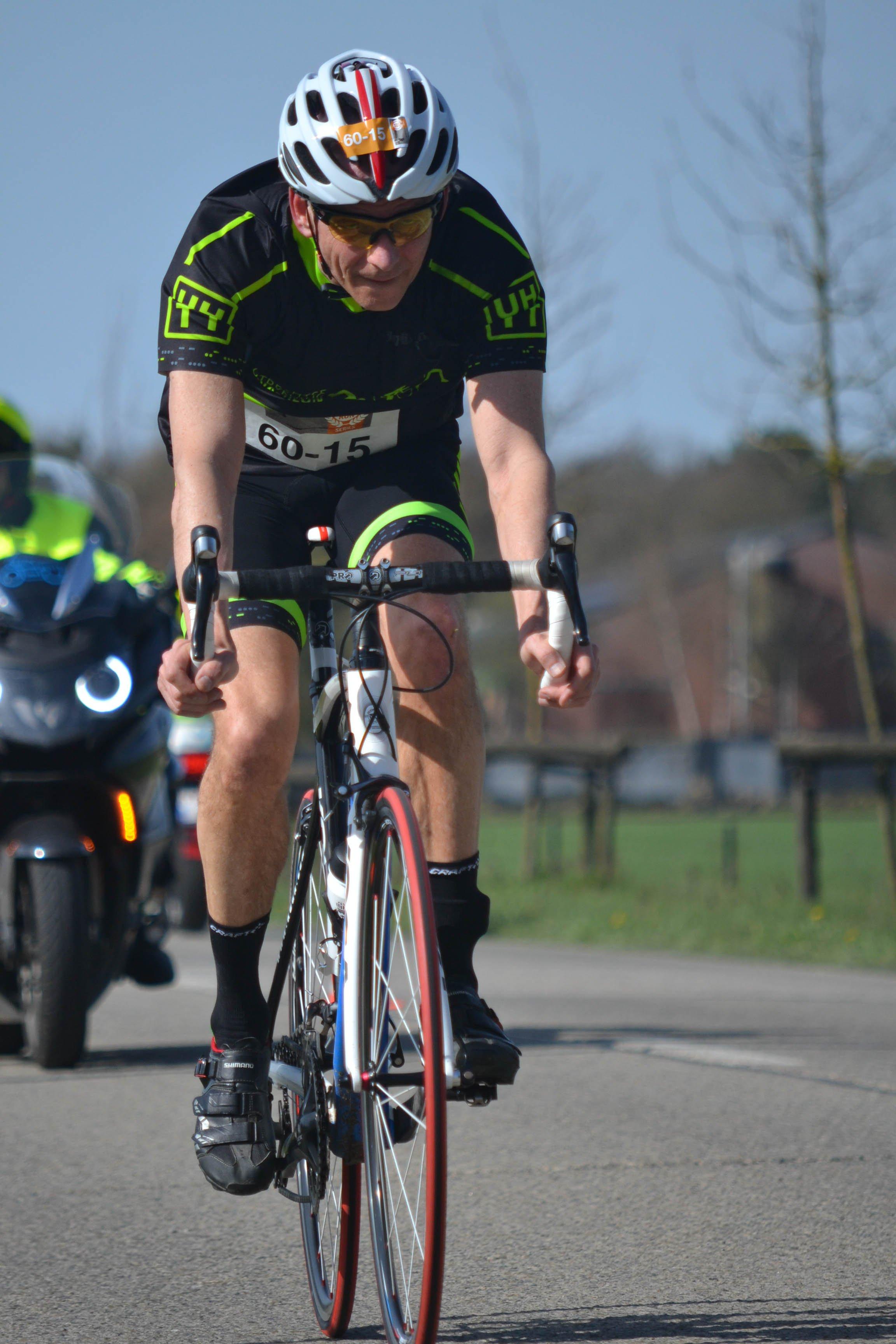 competitie - UHTT Run Bike Run Team Geel Erick Fiets 2 - UHTT Run Bike Run Team verrassend 11e in Challenge Duathlon Geel - raceverslag, Nederland, Hardlopen, Fietsen, competitie, 2018
