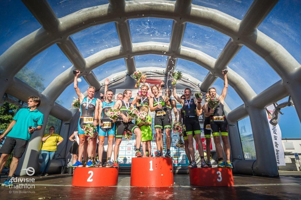 competitie - UHTT wint teamcompetitie Klazienaveen 1030x686 - UHTT maakt kans op unieke 'Super Promotie' op bijzondere finaledag Teamcompetitie - triathlon, Nederland, Marco, Jorrit, competitie, Charles, Bart, 2018